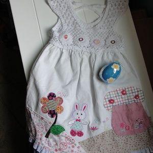 Next Boutique Easter Bunny Dress crochet Size 6